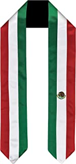 Mexico Flag Graduation Sash/Stole International Study Abroad Adult Unisex
