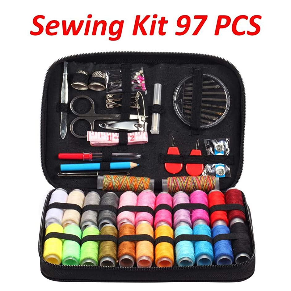 Louise Maelys Sewing Kit with 97 Sewing Accessories Travel Sewing Repair Kit for DIY, Beginners, Emergency, Kids, Travel and Home