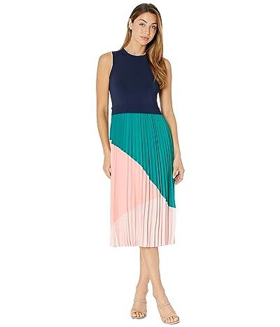 Ted Baker Indigo Contrast Pleat Mockable Midi Dress Women