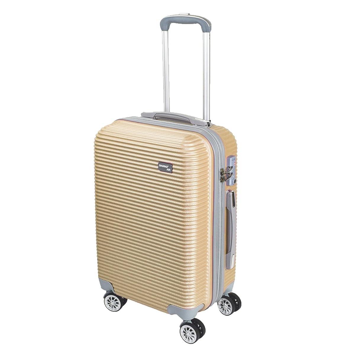 予備ムスタチオ存在する【神戸リベラル】 BAGING 軽量 拡張ファスナー付き S,M,Lサイズ スーツケース キャリーバッグ 8輪キャスター TSAロック付き
