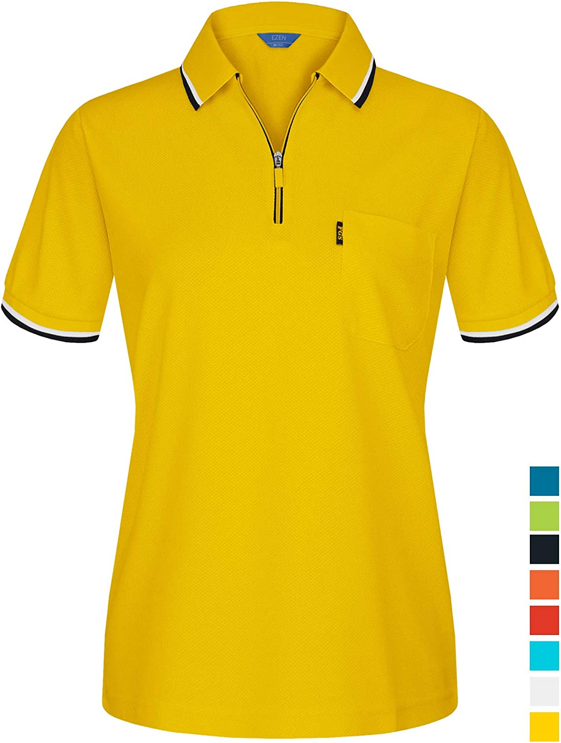 EZEN Women's & Ladies Light & Cool Comfort FIT Sporty Short Sleeve Polo Shirts