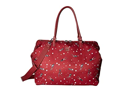 Lipault Paris Izak Zenou Medium Weekend Bag (Pose/Garnet Red) Tote Handbags