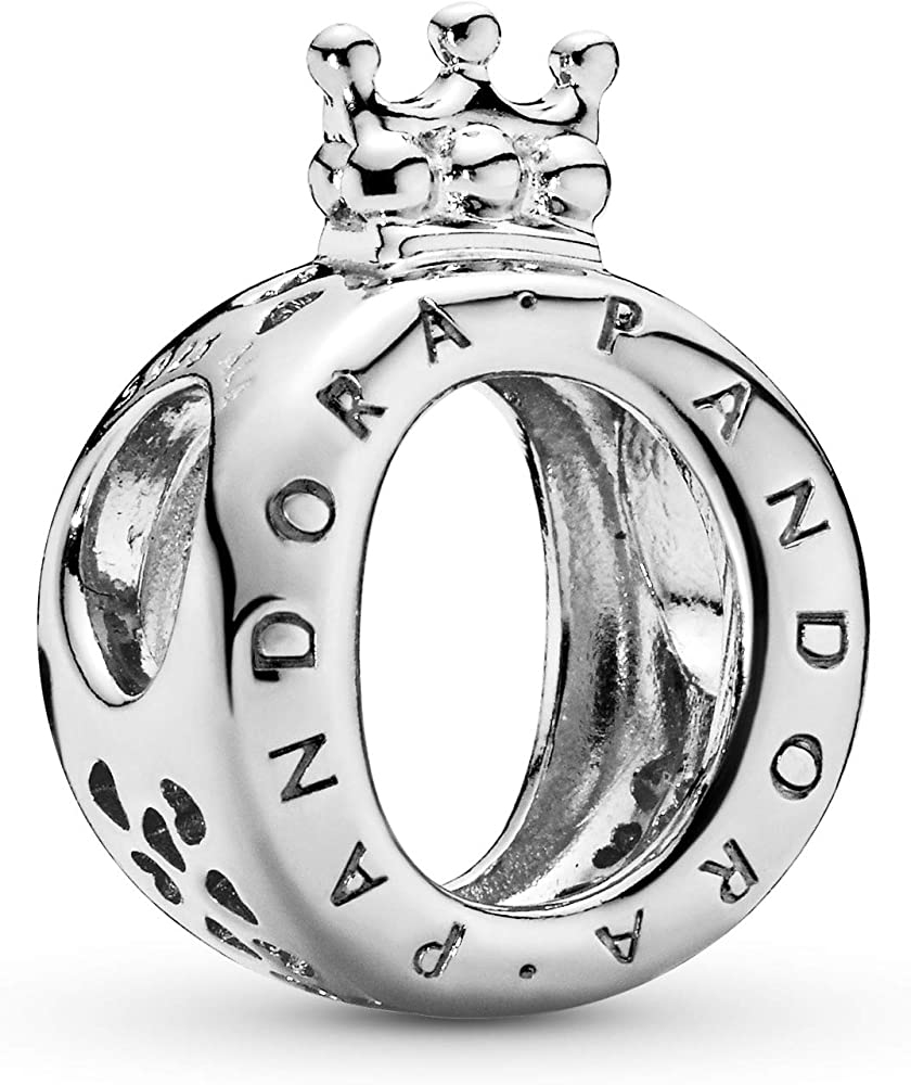 Pandoro ciondolo da donna charm o coronata logo  in argento sterling 925 797401