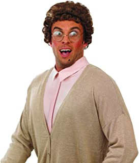 fun shack Mens Funny Wigs Adults Mad Scientist Bald Character Costume Accessories