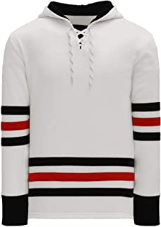 Chicago Skate Lace Athletic Pro Hockey Jersey Hoodie - White