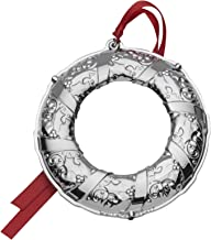 Wallace 2017 Silver Plated Engravable Wreath Ornament, 5th Edition