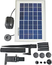 ASC Solar Water Pump Kit for Fountain Pool and Pond (3W Battery/Timer LED)