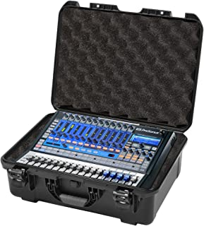 Gator Cases Injection Molded ATA-300 Certified Waterproof Mixer Case; Custom Foam Insert for Presonus StudioLive 16.0.2 (GMIX-PRESON1602-WP)