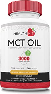 Premium MCT Oil Capsules for Men and Women with Caprylic C8 & Capric C10 Acid. Energy Supplement for Weight Loss, Mental Focus, Metabolism, Endurance, Heart Health. Great for Keto and Paleo Diets