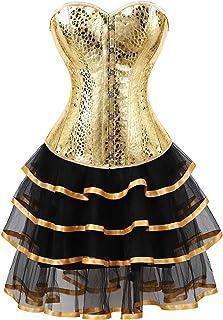 فساتين كورسيه frawirshau فوق الصدر مشد تنورة مجموعة Moulin Rouge Showgirl صالون ملابس تنكرية للفتيات