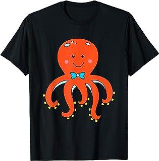 T Shirt con Polpo Felice Polipo Bambino Maglietta