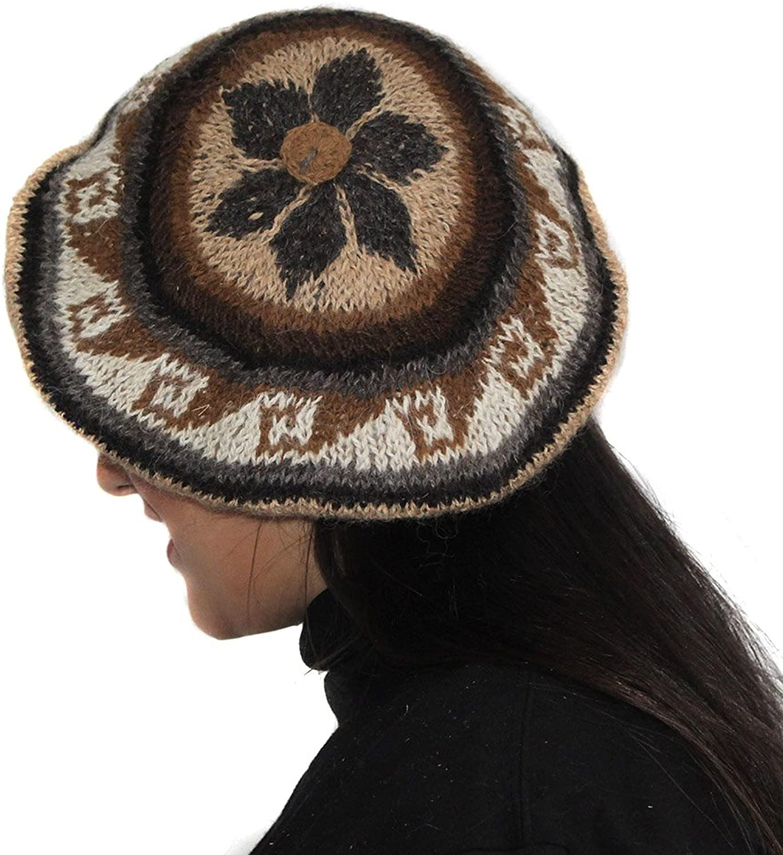 BERET CAP HAT ALPACA RUSTICA UNISEX made in PERU