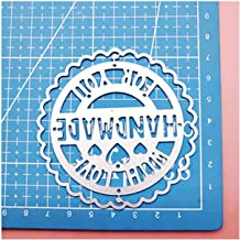 Tag Label Heart Handmade with Love Sentiment Circle Scallop Cutting Dies for DIY Scrapbooking/Photo Album Decorative Paper Cards,1 Set