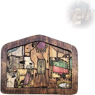 2021 New Nativity Puzzle with Wood Burned Design, Wooden Jesus Puzzle Set, Religious Jigsaw Puzzle Game for Adults and Kid...