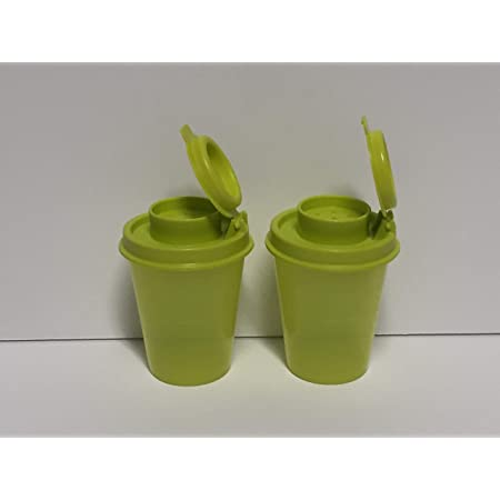 Tupperware Personal Mini Salt /& Pepper Shaker Tan Seal