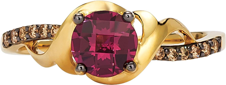 LeVian 14K Gold 8mm Gemstone 1 10 Under blast sales Chocolate Free shipping New Cttw Diamond Filig