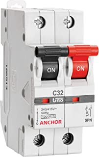 Anchor by Panasonic 98011 UNO Series 16 Ampere SPN C Curve MCB, White