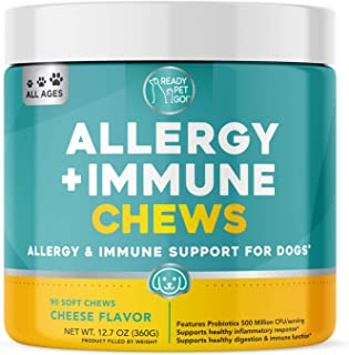 Ready Pet Go! Allergy Immune Supplement for Dogs with Itch Relief & Allergy Relief | Omega 3 for Dogs + Probiotics for Dog...