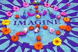 Imagine (John Lennon Memorial) Non-Flocked Blacklight Music Poster Print - 24x36 Blacklight Poster Print, 36x24