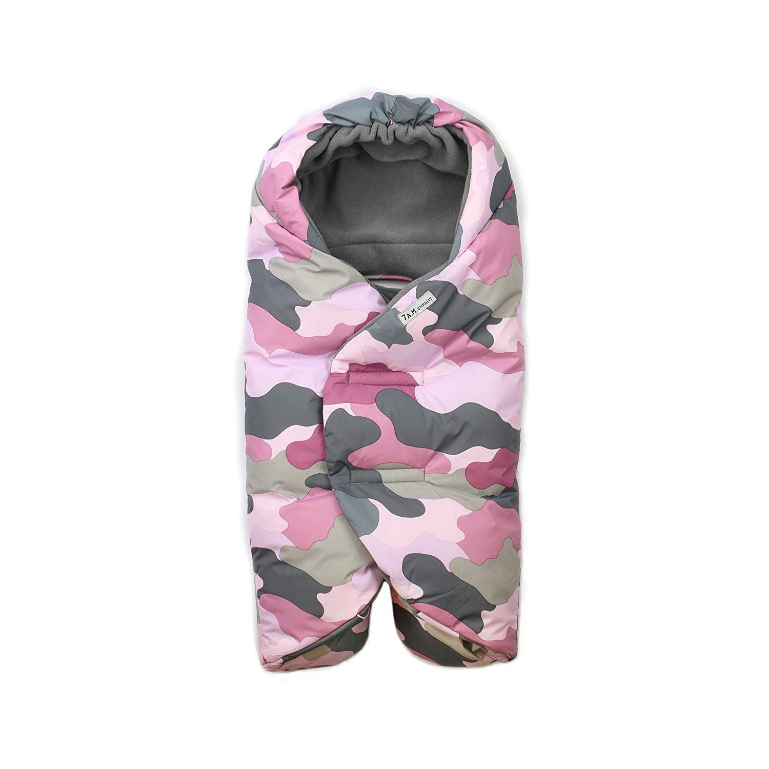 7 A.M. Enfant Nido Quilted, Camo Pink, Large