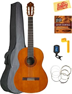 Yamaha CGS104A Full-Size Classical Guitar Bundle with Gig Bag, Tuner, Strings, String Winder, Austin Bazaar Instructional DVD, and Polishing Cloth