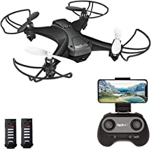 $49 » tech rc Mini Drone with Camera FPV Live Video Wifi Quadcopter, Easy Control with Headless Mode, Altitude Hold, Long Flight Time with 2 Batteries, App Control Available Toy Drone for Kids and Beginners