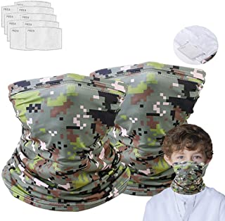 2 Neck Gaiter with 10 Pcs Mask Filters, Effective Protect...