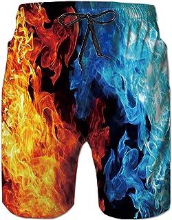 Goodstoworld Hombre Ba/ñador Shorts 3D Playa Natacion Pantalon Corto Poli/éster Secado R/ápido Ligero Bermuda Moda Shorts