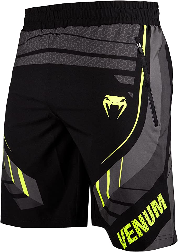 Venum Technical 2.0 Fitness Shorts - M, Black/Yellow, Medium