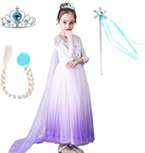 QPANCY Princess Snow Costumes Queen Dresses Halloween Party Clothes with Wig, Crown, Mace, Gloves Accessories