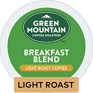Green Mountain Coffee Roasters Breakfast Blend, Single-Serve Keurig K-Cup Pods, Light..