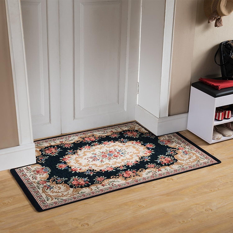 European-Style Entrance Door mats Door Entrance Floor mats Bedroom Kitchen Bathroom Water Slip Door mat Step pad-C 90x90cm(35x35inch)