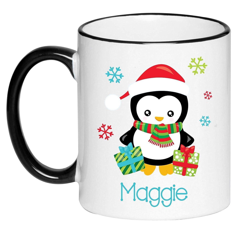Personalized Santa Penguin Hot Finally resale start Chocolate Children's Sacramento Mall Mug Coc