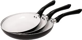 Jean-Patrique Bio Supreme Frying Pan Set 3 Piece, Non Stick, Induction Compatible Healthy Ceramic Coated Frying Pan - Black