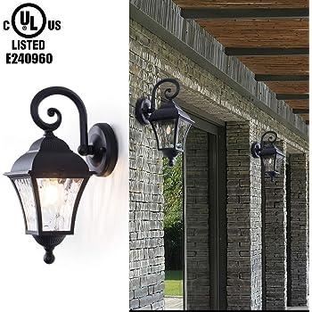Matte Black Lumtopia--DROPSHIP Acclaim 8112BK Somerset Collection 1-Light Wall Mount Outdoor Light Fixture