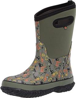 BOGS Kids' Classic Print Waterproof Rain Boot