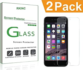 Bundle of 2, RKINC for Iphone 7Plus / 8 Plus Screen Protector, Crystal Clear Tempered Glass Screen Protector [9H Hardness]...