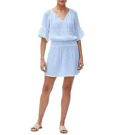 Michael Stars Katelyn Double Gauze Peasant Dress w/ Smocked Waist