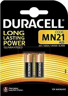 Duracell - Pilas especiales alcalinas MN21 de 12V, paquete de 2 unidades (A23 / 23A / V23GA / LRV08 / 8LR932) diseñadas para su uso en mandos a distancia, timbres inalámbricos y sistemas de seguridad