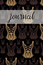 Journal: Black & Gold Corsets: Journal/Notebook/Diary