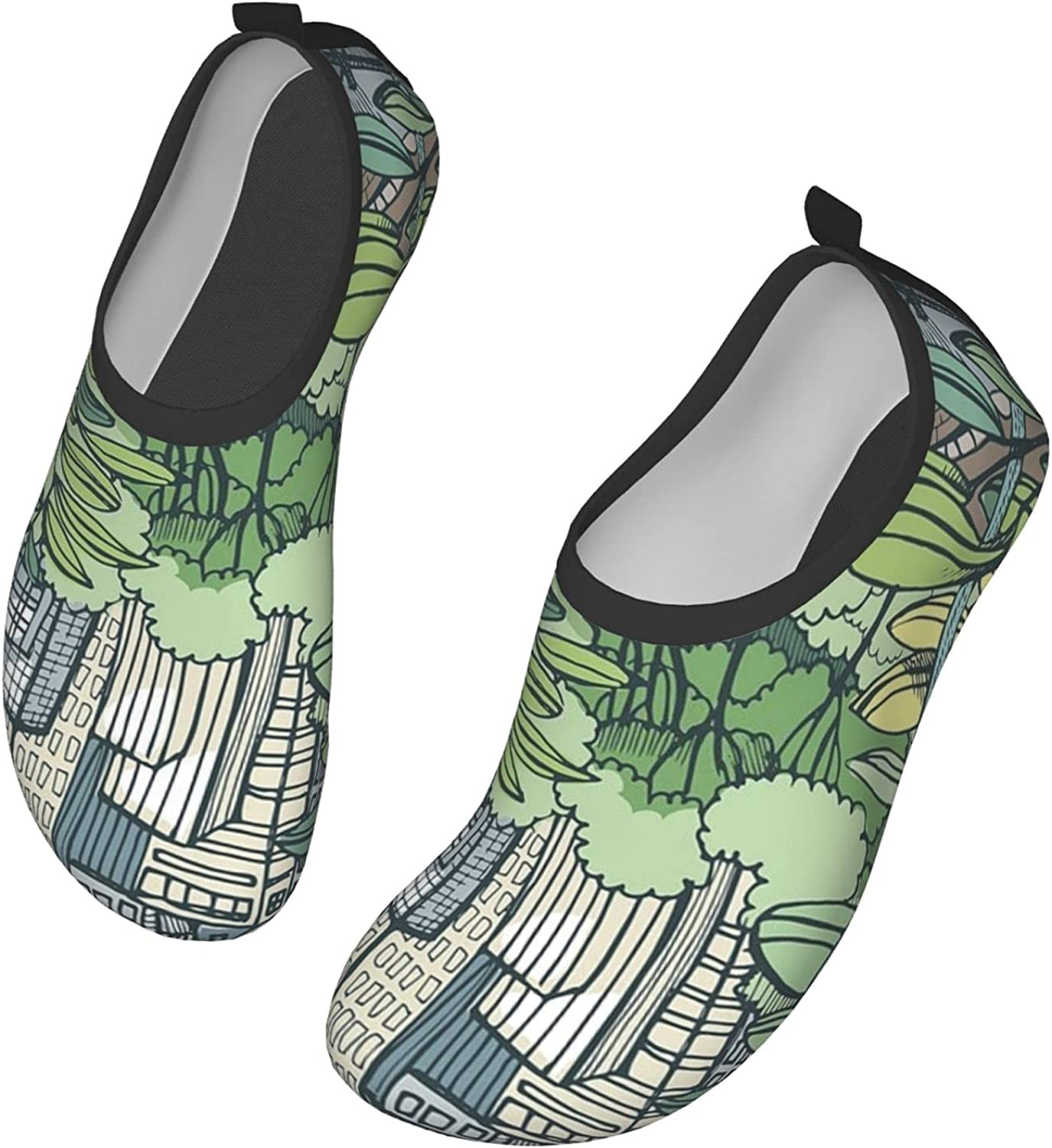 Love Central Park Water Shoes Women's Men's Outdoor Beach Swimming Aqua Socks Quick-Dry Barefoot Shoes Surfing Yoga Pool Exercise