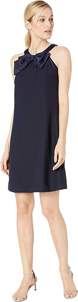 Sleeveless A-Line Shift with Bow Detail