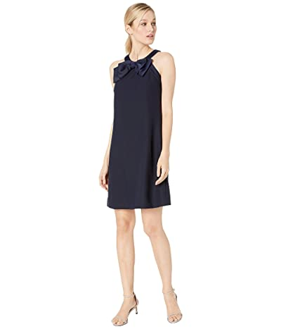 Tahari by ASL Sleeveless A-Line Shift with Bow Detail (Navy) Women