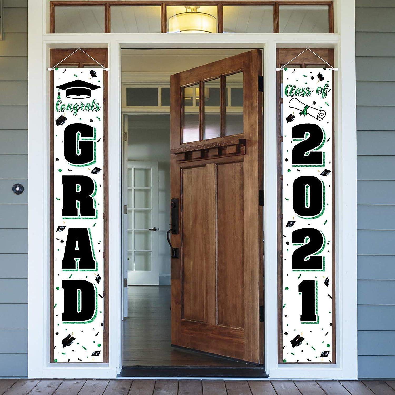 LASKYER Congrats Grad Superior Class of 2021 Banner Door Perfect - Green New life