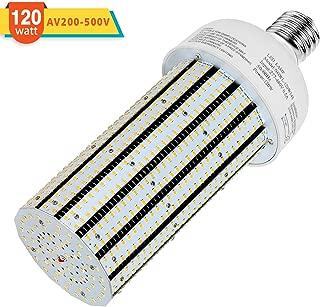 480V 120W LED Corn Light Bulb 347V 400Watt Equivalent Cob Light 17400LM E39 Mogul Base 6000K Daylight CFL HID HPS MH Replacement for Parking Lot Gas Station Light Retrofit Corn Lamp AC200-500V