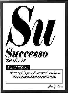 Quadro Moderno Ufficio e Casa - Successo - Cornice varie dimensioni - Motivazionale Skills Made in Italy Mod.036