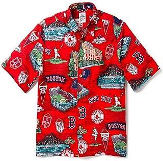 size 40 809a3 475ad Reyn Spooner Men s Boston Red Sox MLB Classic Fit Hawaiian Shirt