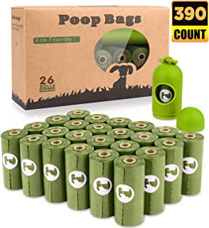 BOTEWO Dog Poop Bag 26 Rolls (390 Counts), Biodegradable Dog Waste Bags With 1 Free Dispenser, Eco-Friendly Compostable Pet Waste Disposal Refill Bags (Scented)