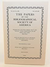 The Papers of the Bibliographical Society of America, Vol. 79, No. 4