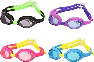 Romoc 4 Pack Kids Swimming Goggles,No Leaking,Anti Fog,UV...